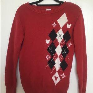 Disney Red Christmas Sweater